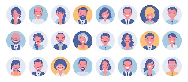 Conjunto grande de avatar de empresários