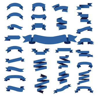 Conjunto grande de fita azul web