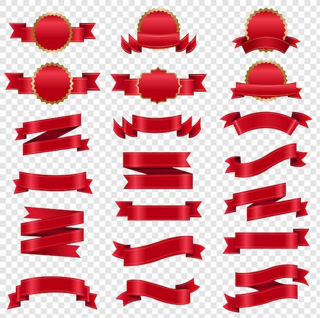Conjunto grande de fita vermelha