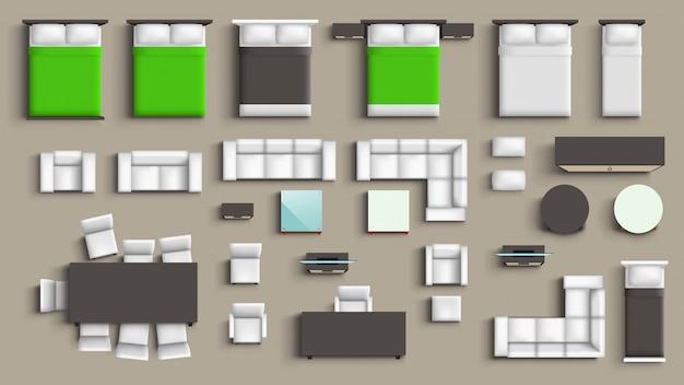 Conjunto grande de móveis
