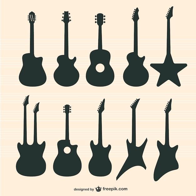Conjunto guitarras vector