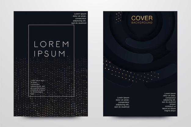 Conjunto ilustração de design de capa preta