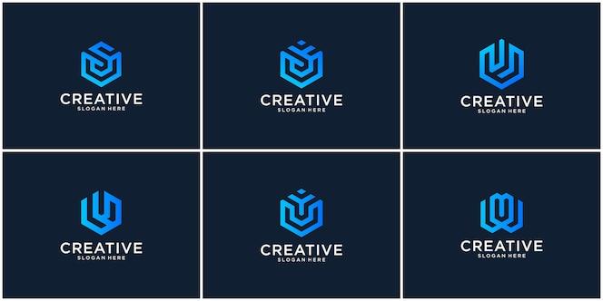 Conjunto inicial de inspiração para o design do logotipo u
