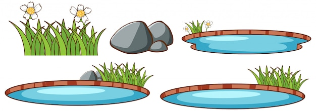 Conjunto isolado de lagoa