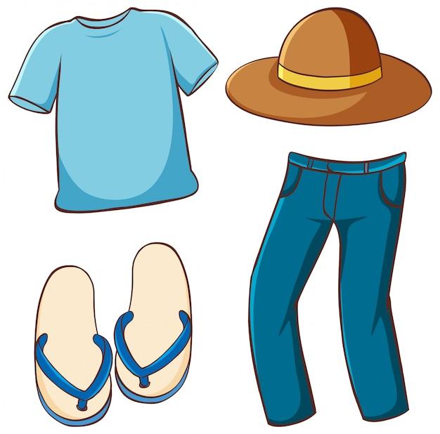 Conjunto isolado de roupas