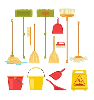 Conjunto isolado de suprimentos de vassoura de ferramentas de limpeza