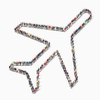 Conjunto isométrico de avião