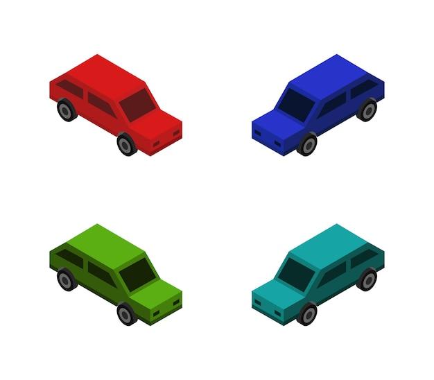 Conjunto isométrico de carro