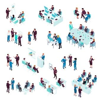 Conjunto isométrico de educação empresarial