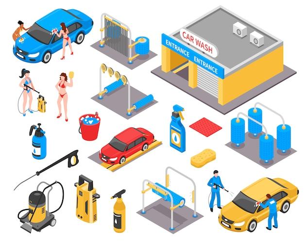 Conjunto isométrico de lavagem de carro