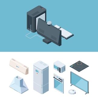 Conjunto isométrico de móveis de cozinha