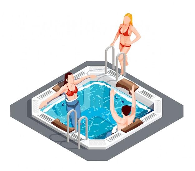 Conjunto isométrico de parque aquático