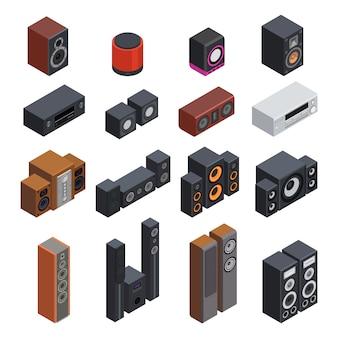 Conjunto isométrico de sistemas acústicos.