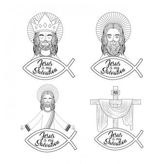 Conjunto jesus é minha salvação orar abençoe