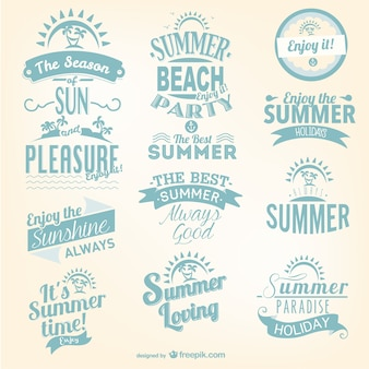 Conjunto lettering verão
