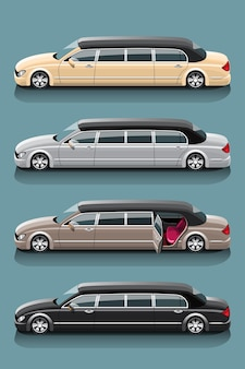 Conjunto limusine de táxi para passageiros especiais