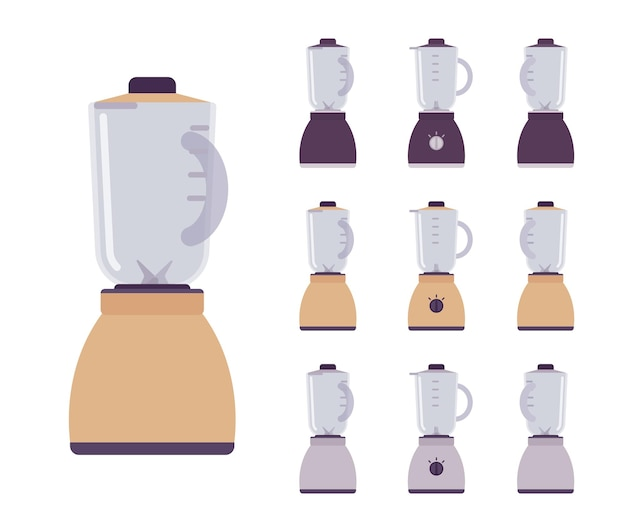 Conjunto liquidificador, máquina de mistura elétrica de cozinha