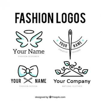 Conjunto logotipo tailor