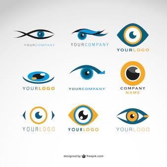 Conjunto logotipos olhos vector