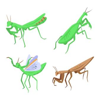 Conjunto mantis, estilo isométrico