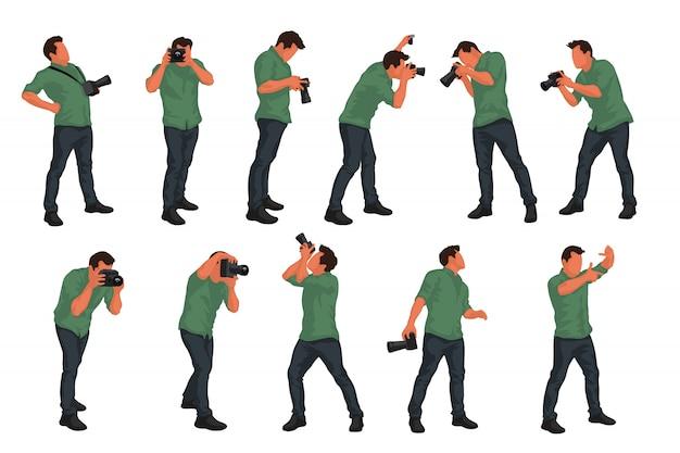 Conjunto masculino de fotógrafo