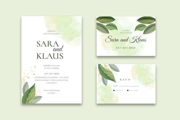 Conjunto mínimo de artigos de papelaria para casamento