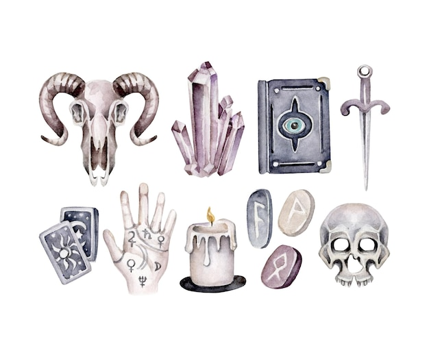 Conjunto místico. coleção mágica.