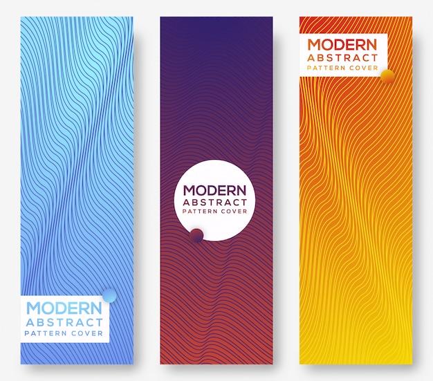 Conjunto moderno abstrato de fundo vertical