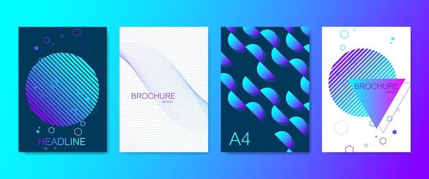 Conjunto moderno de brochuras
