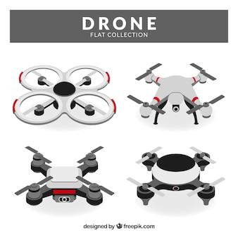 Conjunto moderno de drones planos