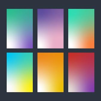 Conjunto moderno de fundo gradiente