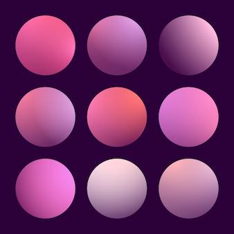 Conjunto moderno de gradiente 3d