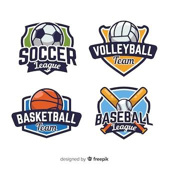 Conjunto moderno de logotipos abstratos de esportes