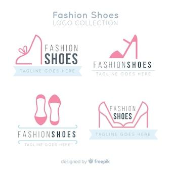 Conjunto moderno de logotipos de sapatos