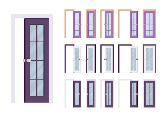 Conjunto moderno de portas