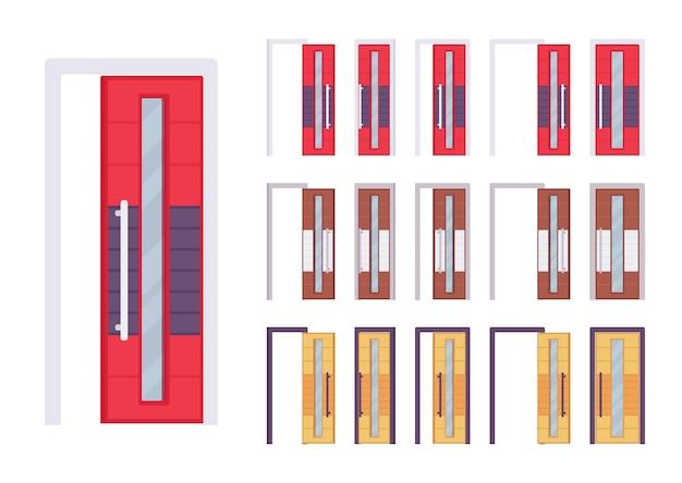 Conjunto moderno e luminoso de portas