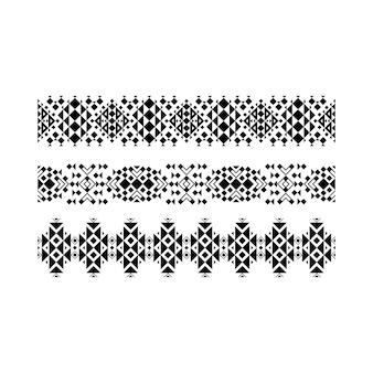 Conjunto ornamental étnico preto