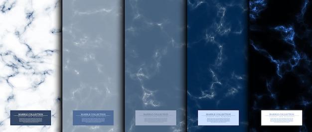 Conjunto padrão abstrato de coleção de mármore