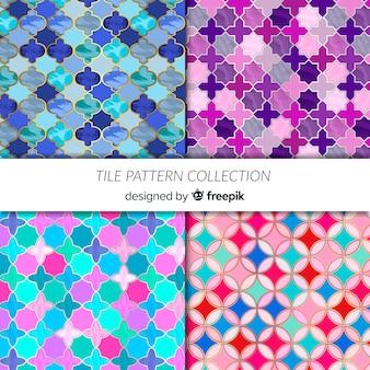 Conjunto padrão de azulejos