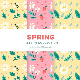 Conjunto padrão floral primavera