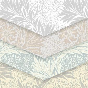 Conjunto padrão floral