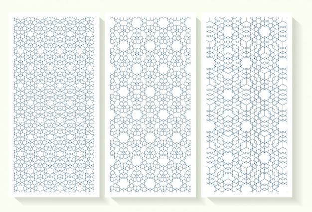 Conjunto padrão geométrico islâmico sem emenda