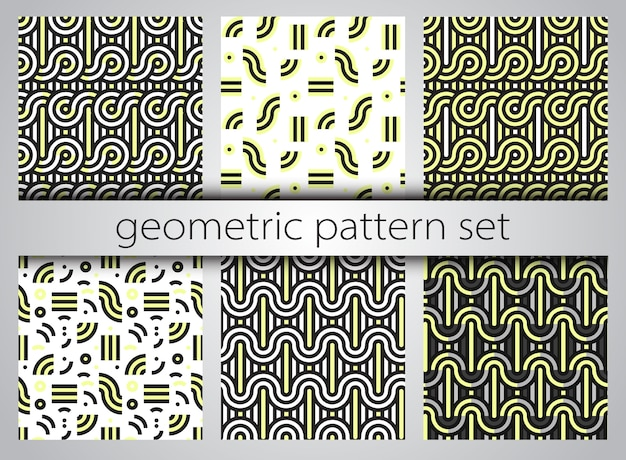 Conjunto padrão geométrico sem emenda. estampas geométricas.
