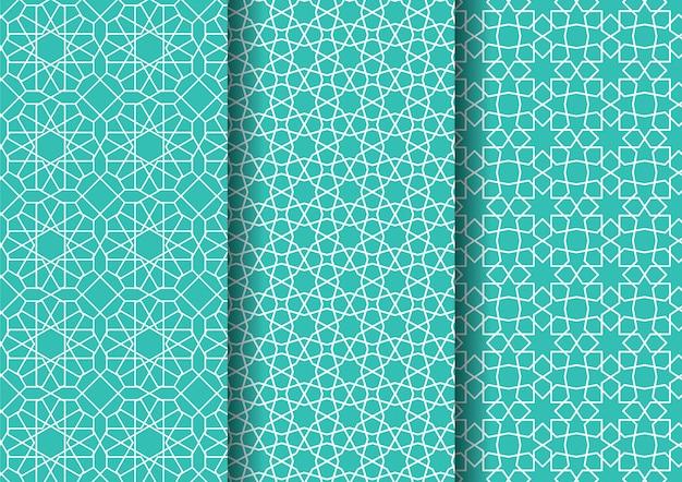 Conjunto padrão oriental islâmico