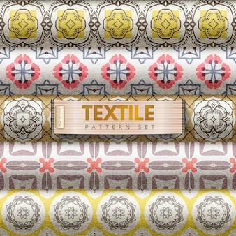 Conjunto padrão têxtil