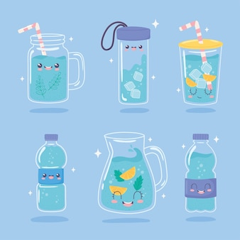 Conjunto para beber água