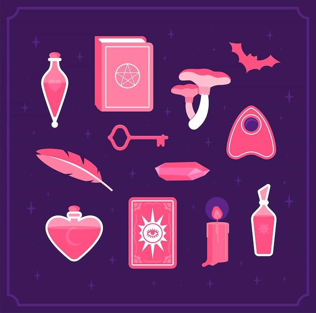 Conjunto para bruxas mágicas.
