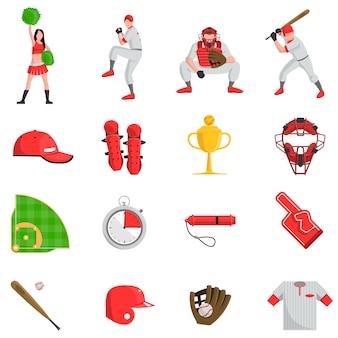 Conjunto plano de beisebol