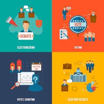 Conjunto plano de eleições