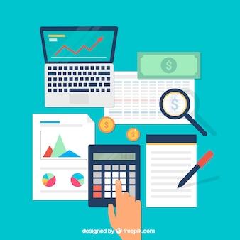 Conjunto plano de elementos financeiros